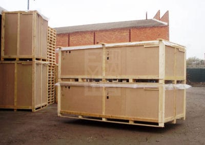Modelo de cajas de madera para las mecancías de Embalatges Sanfeliu 28