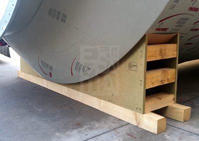 Suports de fusta per dipòsits, Embalatges Sanfeliu