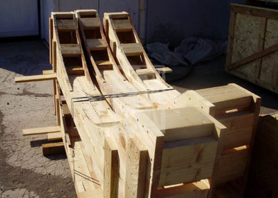Suports diposits de fusta, Embalatges Sanfeliu