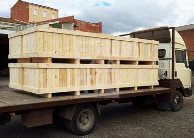 Transport de productes de fusta, Embalatges Sanfeliu