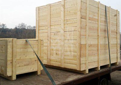 Transport de caixes de gran tamany