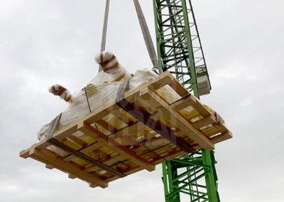 Transport de productes amb base de fusta, Embalatge Sanfeliu